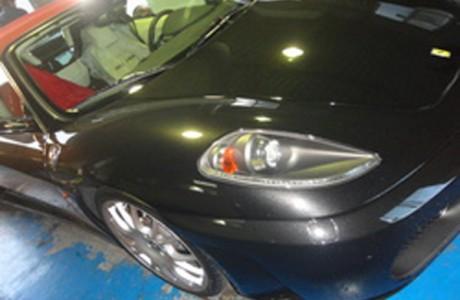 フェラーリF430 スパイダー マフラー交換、VW GOLF6 GTIバックカメラ&ヘッドライト交換