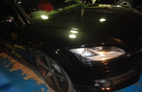 アウディ TT 8J 3,2L QUATTRO KW DDC ECU取り付け、フェラーリ F430 スクーデリア ボディコーティング、VW BORA V6 4MOTION NEUSPEED パワープーリー取り付け