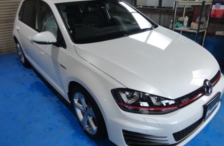 VW GOLF7 ゴルフⅦ GTI ボディコーティング、コーディングTVキャンセラー