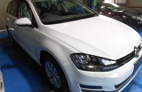 VW GOLF7 ゴルフⅦ ヴァリアント コーティング&ブレーキパッド&バックカメラ&TVキャンセラー