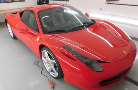 Ferrari フェラーリ 458イタリア ボディコーティング&XPELペイントプロテクションフィルム&ナビゲーション&バックカメラ装着!!