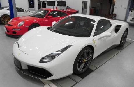 フェラーリ Ferrari 488 gtb ボディプロテクションフィルム施工!!