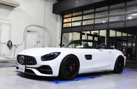 AMG GT Cロードスター KW HAS(ハイトアジャスタブルスプリング)&ヘッドライト&テールレンズスモークフィルム施工!!!