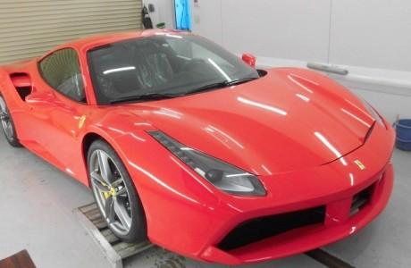 Ferrari フェラーリ 488 GTB XPEL ペイントプロテクションフィルム施工!!