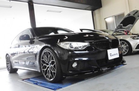 BMW F36 420i グランクーペ INGO NOAK TUNING フロントリップスポイラー&シーケンシャルLEDドアミラーウィンカー取り付け!!
