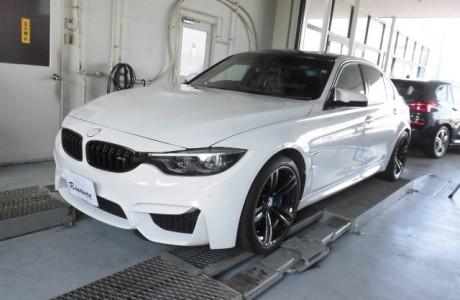 BMW F80 M3 飛び石などによるフロントガラスの破損を軽減するBELLOF ガラス プロテクション コーティング施工!!