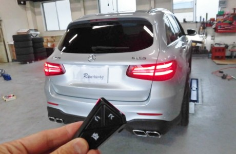 MercedesBenz メルセデスベンツ GLC250 X253 ARMYTRIX (アーミートリックス)エギゾーストバルブ付きマフラー取り付け!!