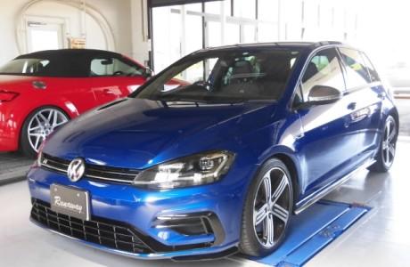 VW GOLF7.5-R レーシングライン エンジンパーツ&NEUSPEED(ニュースピード)パワーモジュール&クランツ GIGA'S ブレーキパッド取り付け!!