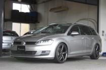 VW GOLF7 ゴルフ7 VARIANT ヴァリアント レカロシート&COX マフラー&エアークリーナー&レースチップ&VOSSEN CV3-R 19インチ装着!!