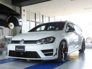 VW フォルクスワーゲン GOLF-R MK7 ゴルフ7―R ヴァリアント RST カーボンステアリング取り付け&APR イグニッションコイル&プラグ交換&APR ECUチューニング!!