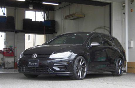 VW ゴルフ7.5-R ヴァリアント COX スプリングキット&VOSSEN ヴォッセ CVT 19インチ取り付け!!