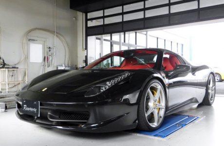 Ferrari フェラーリ 458 スパイダー オリジナルエギゾーストバルブコントロールユニット&リチウムイオンバッテリーMEGA・LiFe Battery(メガライフバッテリー)取り付け!!