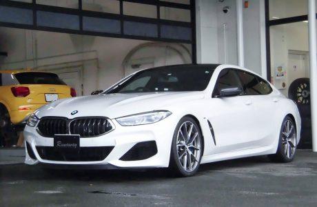 BMW M850i xDrive G16 グランクーペ H&R スポーツスプリング&レイヤードサウンド LST-AD3-01 取り付け!!
