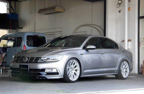 VW フォルクスワーゲン PASSAT パサート B8 2.0TFSI R-LINE ST X車高調キット&RST 低ダストブレーキパッド取り付け!!