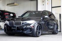 BMW X5 G05 VOSSEN ヴォッセ HYBRID FORGED HF-3 20インチ&エアサスロアリングキット取り付け!!